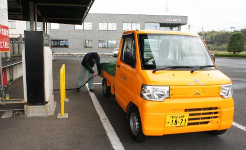 配送トラック(LPガス車)